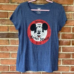 Junior's Mickey Mouse Club Member Graphic Tee Lg